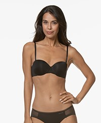 Calvin Klein Sculpted Lightly Lined Strapless BH - Zwart