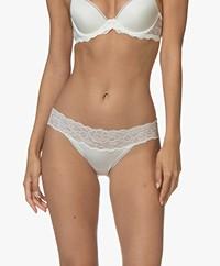 Calvin Klein Seductive Comfort Kanten Slip - Ivory