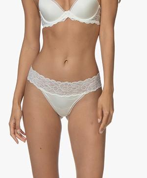 Calvin Klein Seductive Comfort Lace Thong - Ivory