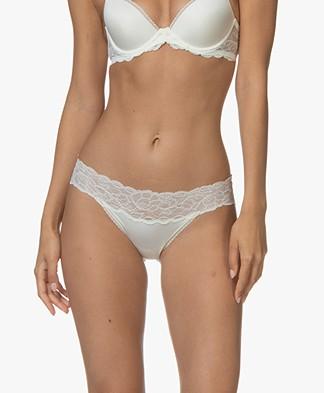 Calvin Klein Seductive Comfort Lace Briefs - Ivory
