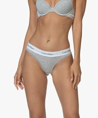 Calvin Klein Modern Cotton Thong - Grey Heather