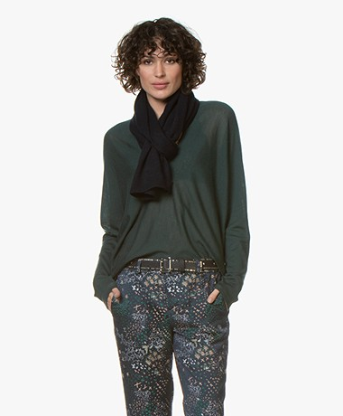 Repeat Basic Cashmere Scarf - Navy
