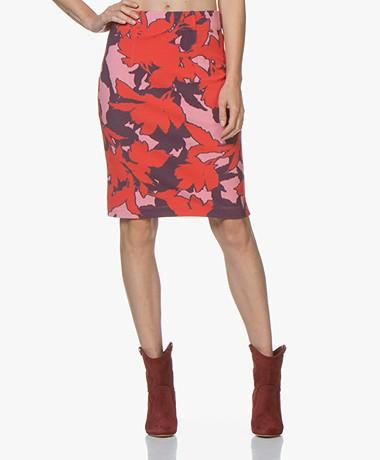 Kyra & Ko Aria Textured Jersey Skirt - Red