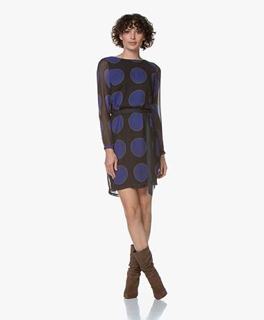 Josephine & Co Galina Chiffon Dress - Black/Blue