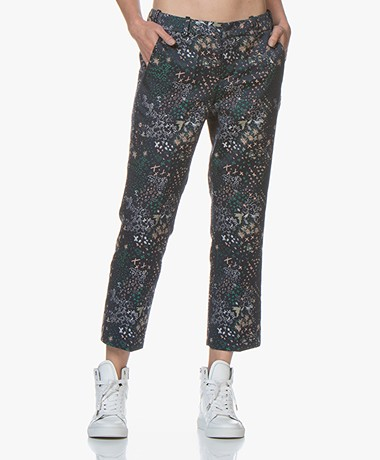 Zadig & Voltaire Posh Jacquard Cropped Pants - Navy