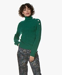 MKT Studio Klimo Kint Mohair Blend Turtleneck Sweater - Forest