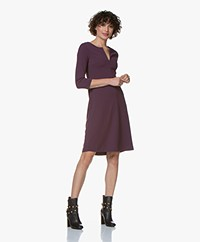 Kyra & Ko Grape Crêpe Jersey Jurk - Plum
