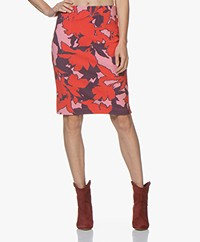 Kyra & Ko Aria Textured Jersey Skirt - Red