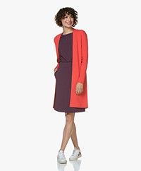 Kyra & Ko Annelot Mid-length Open Cardigan - Red