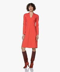 Kyra & Ko Bloem Viscose Interlock Dress - Red