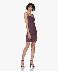 Kyra & Ko Rikkie Jersey Spaghetti Strap Dress - Plum