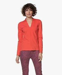 Kyra & Ko Flavia Viscose Interlock Long Sleeve - Red