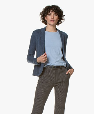 Majestic Filatures Jersey Blazer with Cashmere - Denim/Anthracite