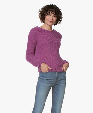 American Vintage Manina Wool Blend Sweater - Anemone Melange