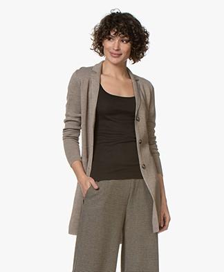 Belluna Harper Merino Wool Blend Cardigan - Beige