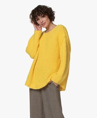 American Vintage Boolder Alpaca Blend Oversized Pullover - Mimosa