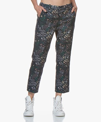 Zadig & Voltaire Posh Jacquard Cropped Pantalon - Navy