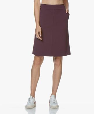 Kyra & Ko Ilvy Crepe Jersey Skirt - Plum