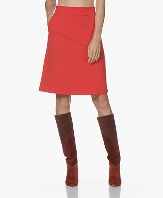 Kyra & Ko Ilvy Crepe Jersey Skirt - Red