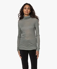 Closed Lyocell Mix Colshirt - Pale Teal