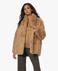 Josephine & Co Ted Faux Fur Jacket - Camel