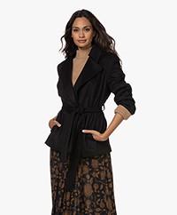 Drykorn Blester Wool Blend Wrap Coat - Black