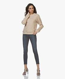 Rag & Bone High Rise Ankle Skinny Jeans - Coated Worn