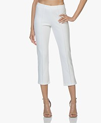 By Malene Birger Cropped Slim-fit Pants - Soft White