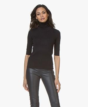 Filippa K Merino Elbow Sleeve Sweater - Navy
