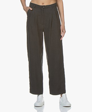 American Vintage Nalastate Lyocell Pants - Carbon