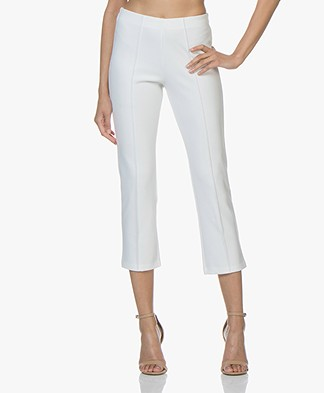 By Malene Birger Pan Cropped Slim-fit Broek - Soft White