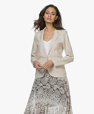 Majestic Filatures Linen and Cotton Blazer - Sand