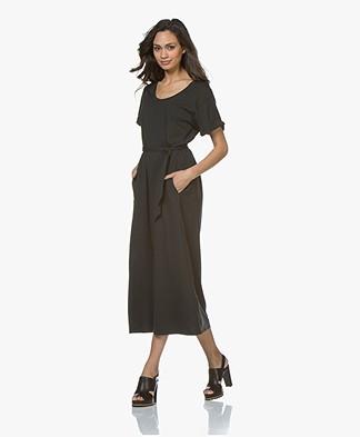 Pomandère Cotton Jersey T-Shirt Dress - Black