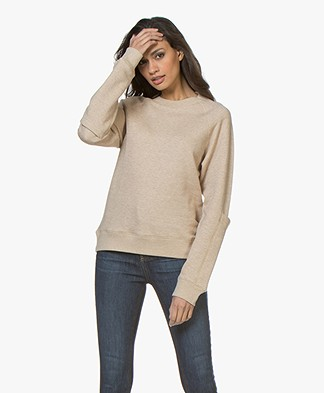 Joseph Molleton French Terry Sweatshirt - Beige Melange