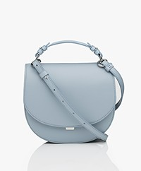 Filippa K Harley Saddle Leren Tas - Ice Blue