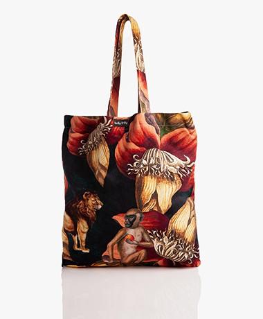 VanillaFly Velours Shopper - Jungle Ape