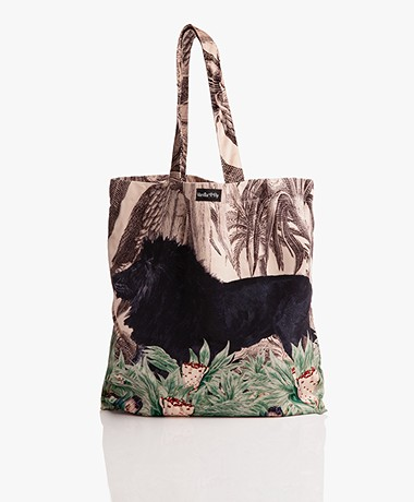 VanillaFly Velours Shopper - Black Lion