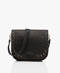 MKT Studio Bibali Leather Studded Shoulder Bag - Black