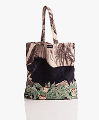 VanillaFly Velvet Tote Bag - Black Lion