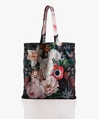 VanillaFly Velours Shopper - Fleurs Baroc