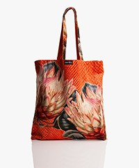 VanillaFly Velours Shopper - Protea