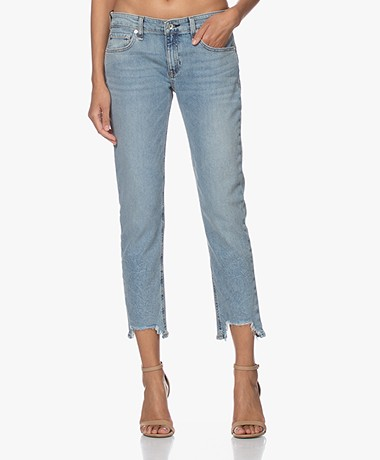 Rag & Bone Dre Low-rise Slim Destroyed Boyfriend Jeans - Thunderbird