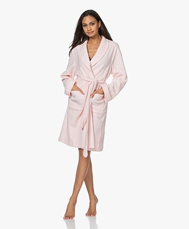 HANRO Robe Selection Fleece Plush Robe - Tender Rose