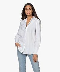 By Malene Birger Calani Katoenen Overhemdblouse - Pure White