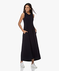 Norma Kamali Swing Sleeveless Maxi Dress - Midnight