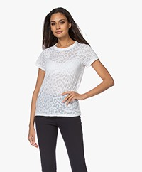 Rag & Bone All Over Cheetah Burn-out T-shirt - White
