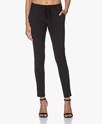 Woman By Earn Fae Tech Jersey Pants - Black