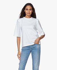 Resort Finest Santo T-shirt met Schoudervulling - Wit