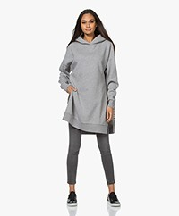 Closed Long Oversized Hooded Sweatshirt - Grey Heather Melange
