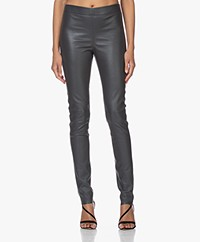 Joseph Leren Stretch Legging - Antraciet